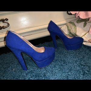 Royal Blue platform heels